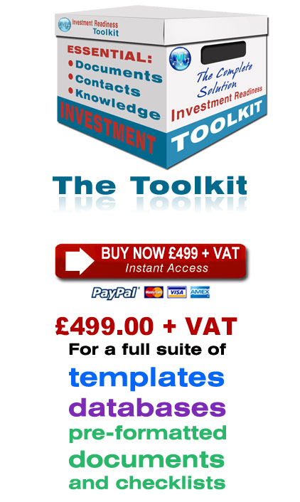 Buy the Investment Readiness Toolkit Now